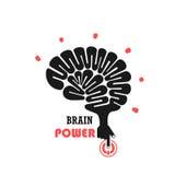 Turn on Creative Light Bulb concept.Brain Logo design. Vector template.Think Idea concept.Brainstorm Power Thinking Brain icon. Business idea and Education Royalty Free Stock Photo