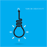 Turn on Creative light bulb concept.Business idea and education Royalty Free Stock Images