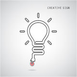 Turn on Creative light bulb concept. Business idea and education Royalty Free Stock Photography