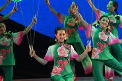 Turn dish-Acrobatic showBaixi Dream Night Royalty Free Stock Image