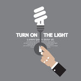 Turn On The Energy-Efficient Light Bulb Stock Photography