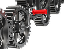 Turn the gear Stock Image