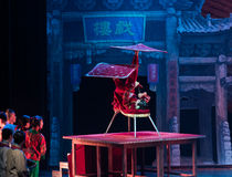 Turn a handkerchief-The table on the Vaudeville-Acrobatic showBaixi Dream Night. Baixi Dream Night tells the story of the beginning of the last century, a class Stock Photo
