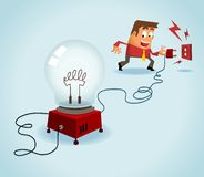 Turn on the idea. Vector Stock Photo