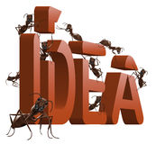 Turn ideas or inspiration idea into innovation Stock Photos