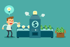 Turn ideas into money Stock Image