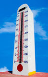 Turn inside out of Tower Thermometer Royalty Free Stock Image