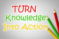Turn Knowledge Into Action Concept Royalty Free Stock Images