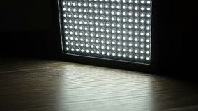 Turn on of led light panel stock footage