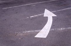 Turn left arrow Royalty Free Stock Image