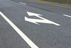 Turn left, go straight Royalty Free Stock Photo