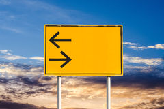 Turn left and right traffic sign Royalty Free Stock Photos
