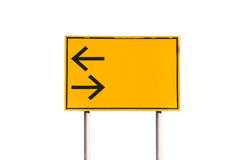 Turn left and right traffic sign Stock Image