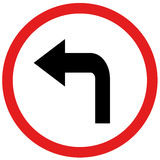 Turn left sign. Arrow turn right sign board traffic Royalty Free Stock Photos