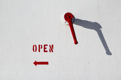 Turn left to open Royalty Free Stock Photo
