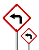 Turn left  traffic sign Stock Image