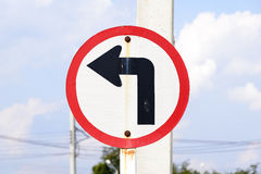 Turn left traffic sign Royalty Free Stock Photography