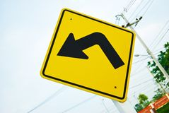 Turn left traffic sign symbol Royalty Free Stock Photography