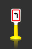 Turn left traffic sign Stock Photography