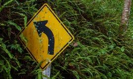 Turn left. Transportation white vehicle signage turn street Royalty Free Stock Image