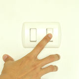 Turn on light switch Stock Image