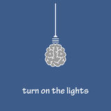 Turn on the lights. The vector picture. EPS 8 Royalty Free Stock Photography