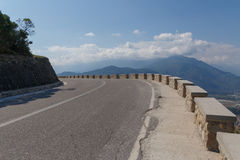 Turn of mountain road Royalty Free Stock Photo