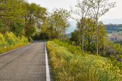 Turn mountain road in the mountains of Italy Stock Photography