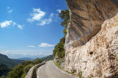 The turn of mountain road Royalty Free Stock Image