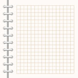 Turn notebook. Page is in a cage. Vector Format page on the spring in the cage Stock Photos