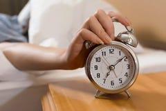 Turn off alarm clock Stock Photos