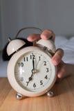 Turn off the alarm Stock Photo