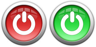 Turn on off button. S over white Stock Photography