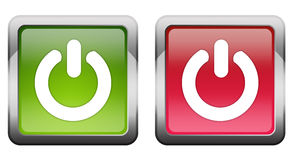 Turn on off button Royalty Free Stock Photo