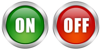 Turn on off button. S set Royalty Free Stock Image