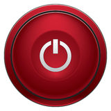 Turn Off button. Red round turn off button for software interfaces and such Royalty Free Stock Image