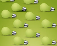 Turn off Light bulbs. On green background Royalty Free Stock Photo