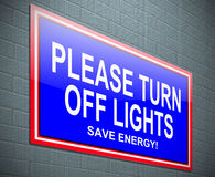 Turn off light concept. Stock Photography