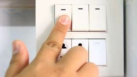Turn off lights, save energy. Save world stock video