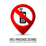 Turn off phone sign. Turn off your phone here Stock Image