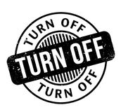 Turn Off rubber stamp Royalty Free Stock Photography