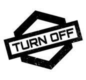 Turn Off rubber stamp Stock Image