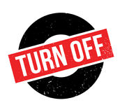 Turn Off rubber stamp Royalty Free Stock Image