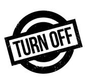 Turn Off rubber stamp Stock Photo