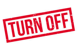 Turn Off rubber stamp Stock Images