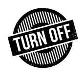 Turn Off rubber stamp Royalty Free Stock Photo