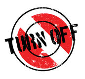 Turn Off rubber stamp Stock Photos