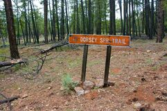 Turn-off to Dorsey Trailhead Stock Image