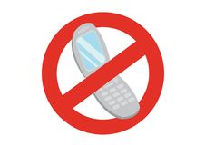 Turn off your mobile phone. Prohibitive regulation turn off your mobile phone royalty free illustration