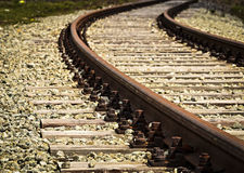 Turn old rail track Royalty Free Stock Photos